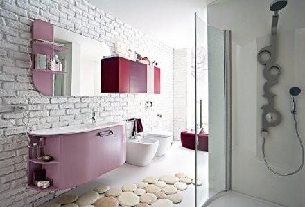 rivestimenti bagno colore bordeaux bagno lilla mosaico simple amp fizzy una ceramica per